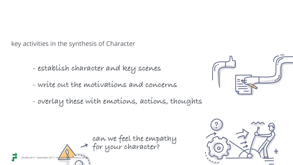 - establish character and key scenes - write ou...