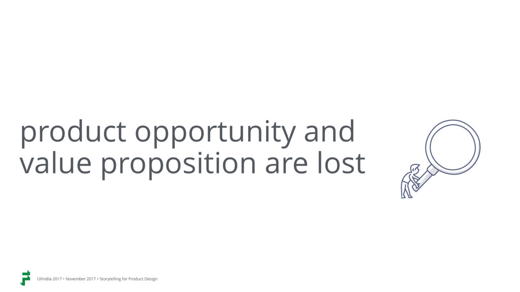 product opportunity and  value proposition are...