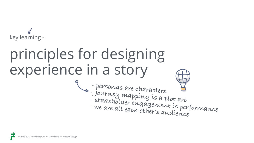 principles for designing  experience in a stor...