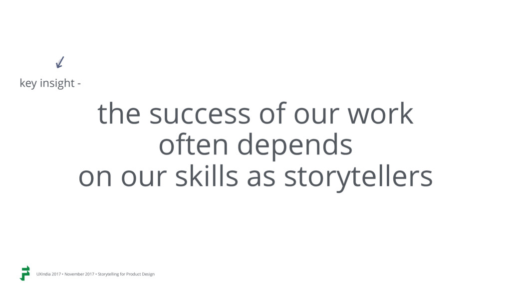 the success of our work  often depends  on ou...