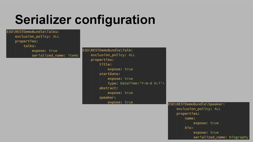 Serializer configuration
