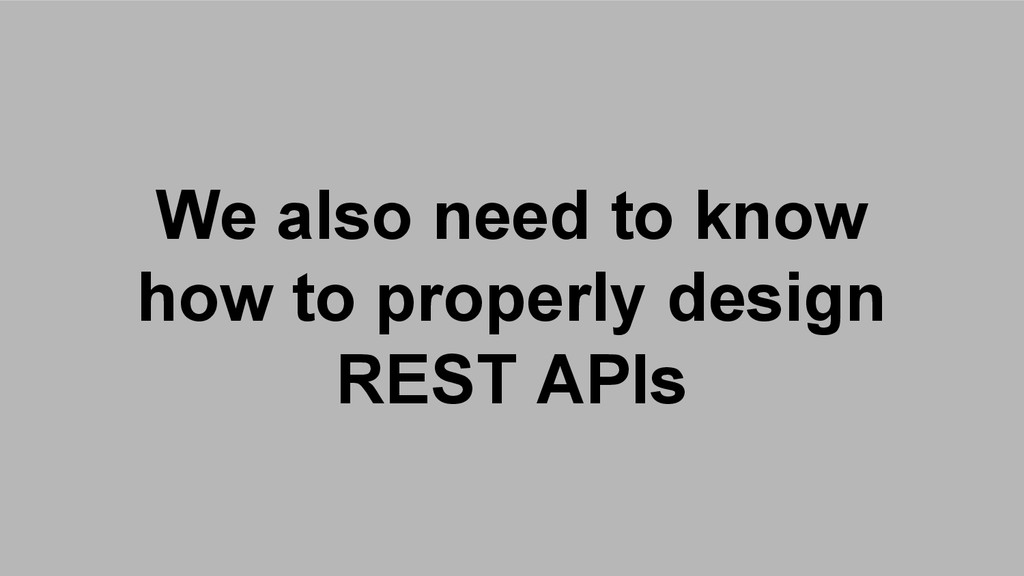 We also need to know how to properly design RES...