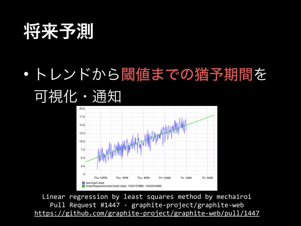 কདྷ༧ଌ • τϨϯυ͔Βᮢ·Ͱͷ༛༧ظؒΛ ՄࢹԽɾ௨ Linear regressio...