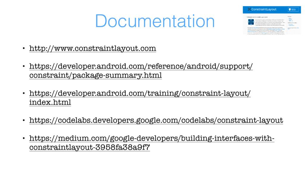Documentation • http://www.constraintlayout.com...