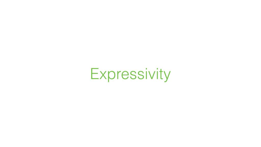 Expressivity