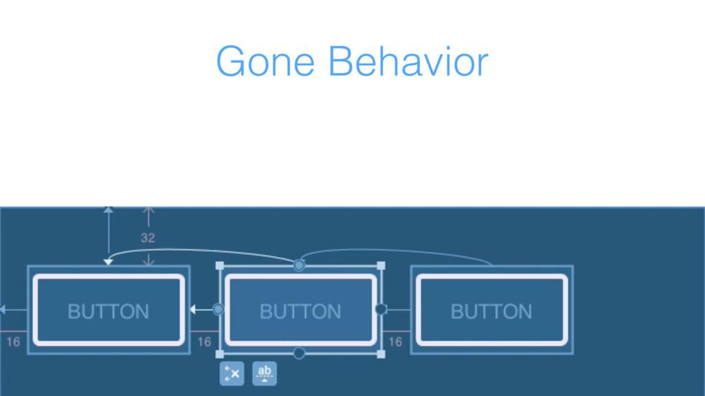 Gone Behavior