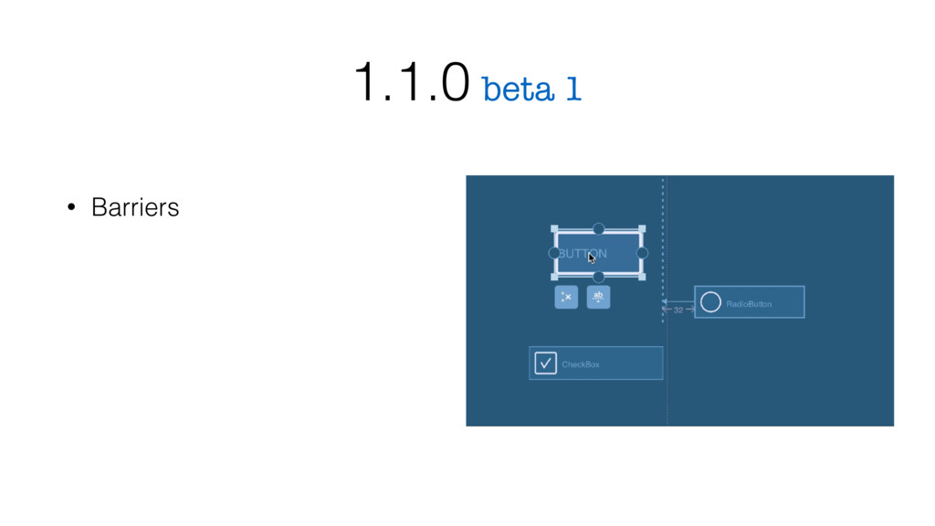 • Barriers beta 1 1.1.0