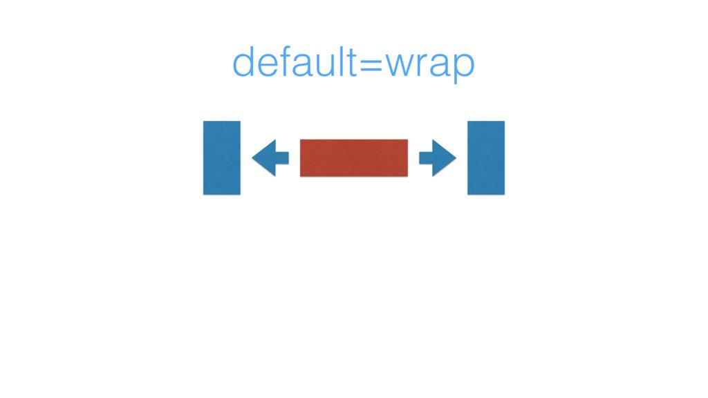 default=wrap
