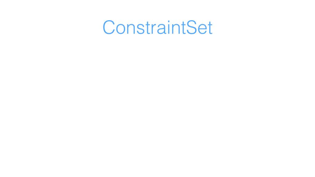 ConstraintSet