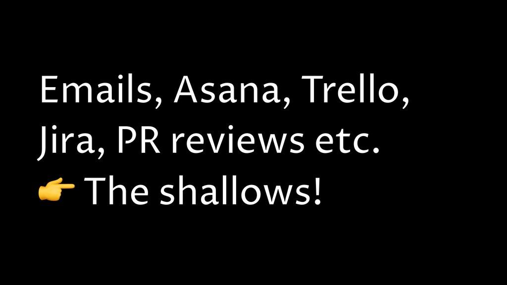 Emails, Asana, Trello, Jira, PR reviews etc.  T...