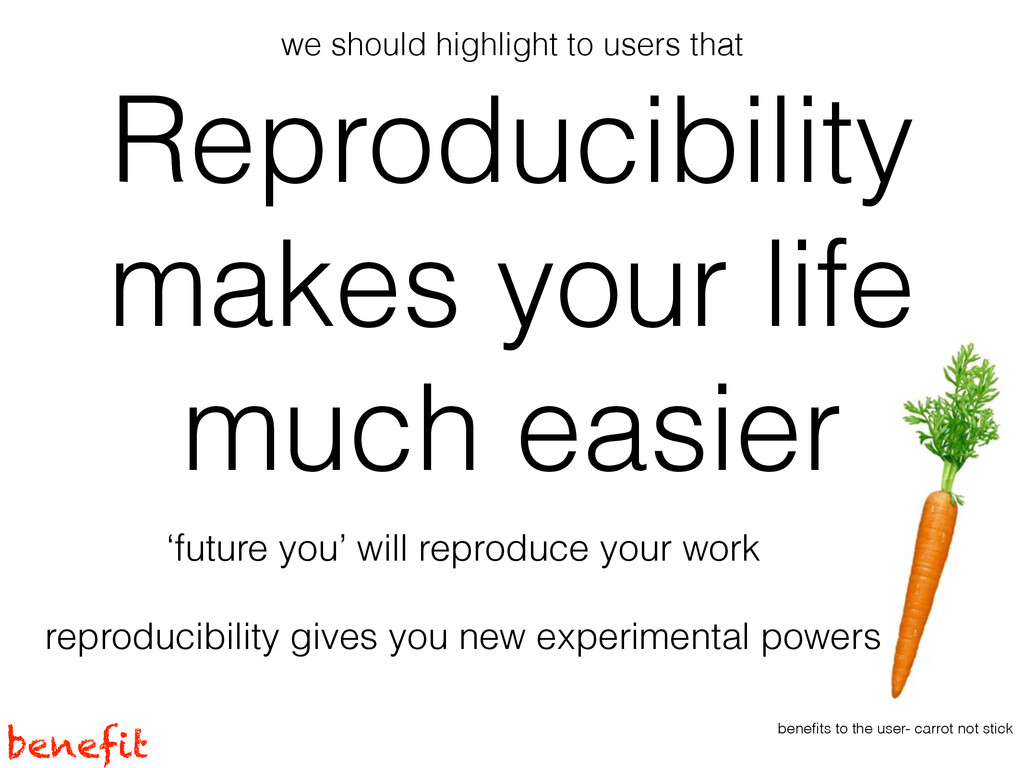 Reproducibility makes your life much easier 'fu...