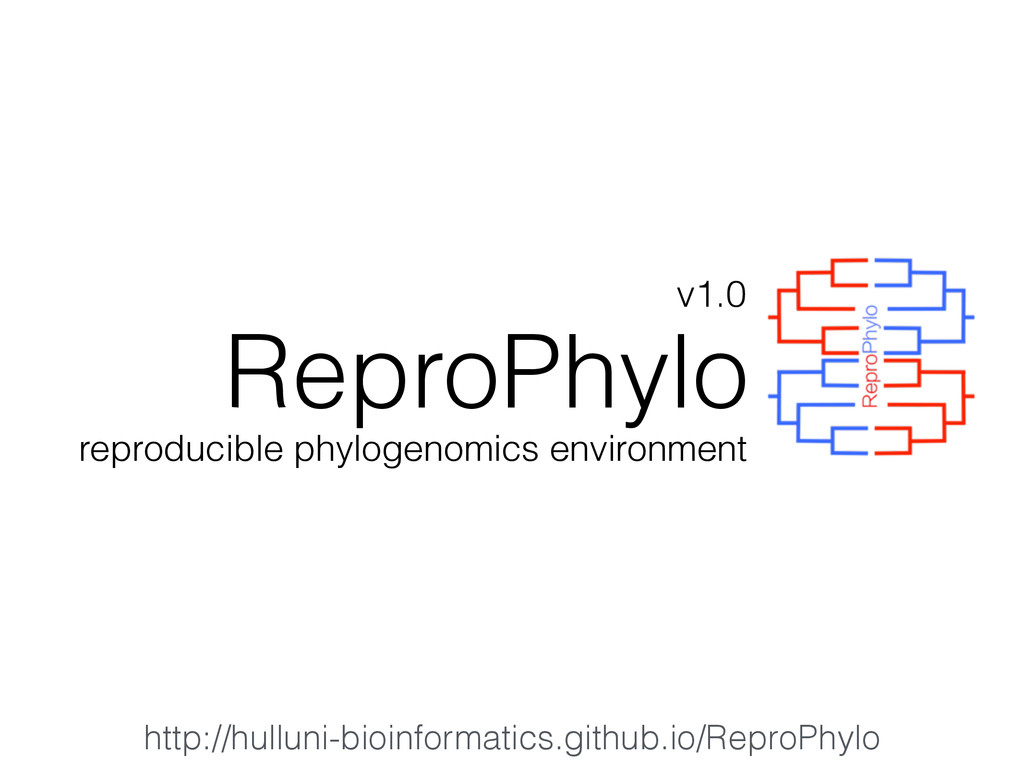 ReproPhylo reproducible phylogenomics environme...