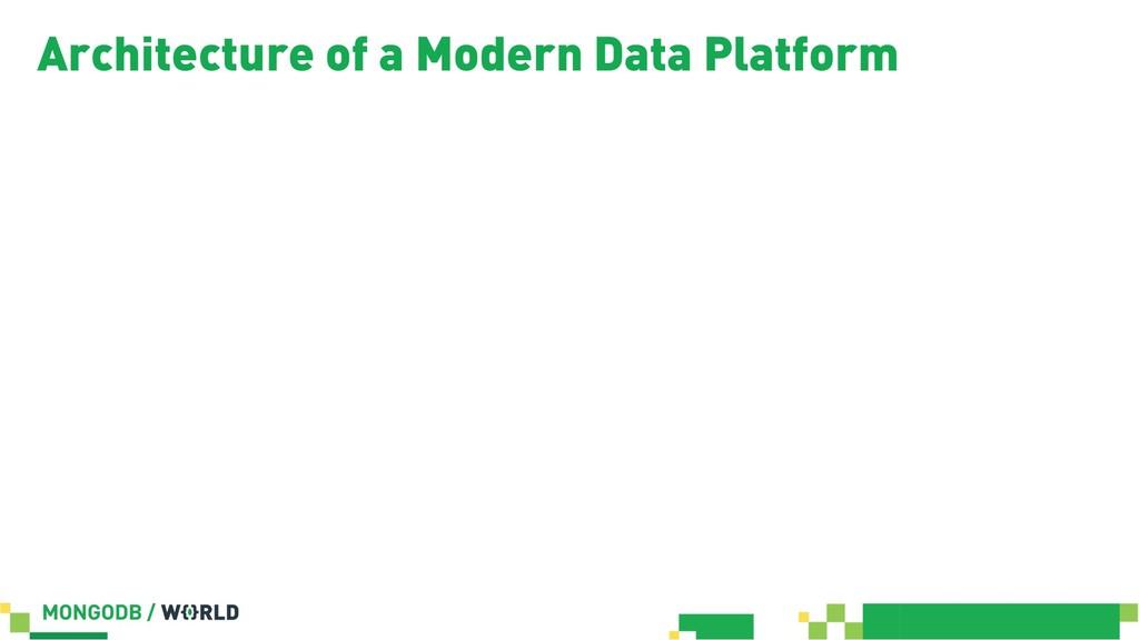 Architecture of a Modern Data Platform