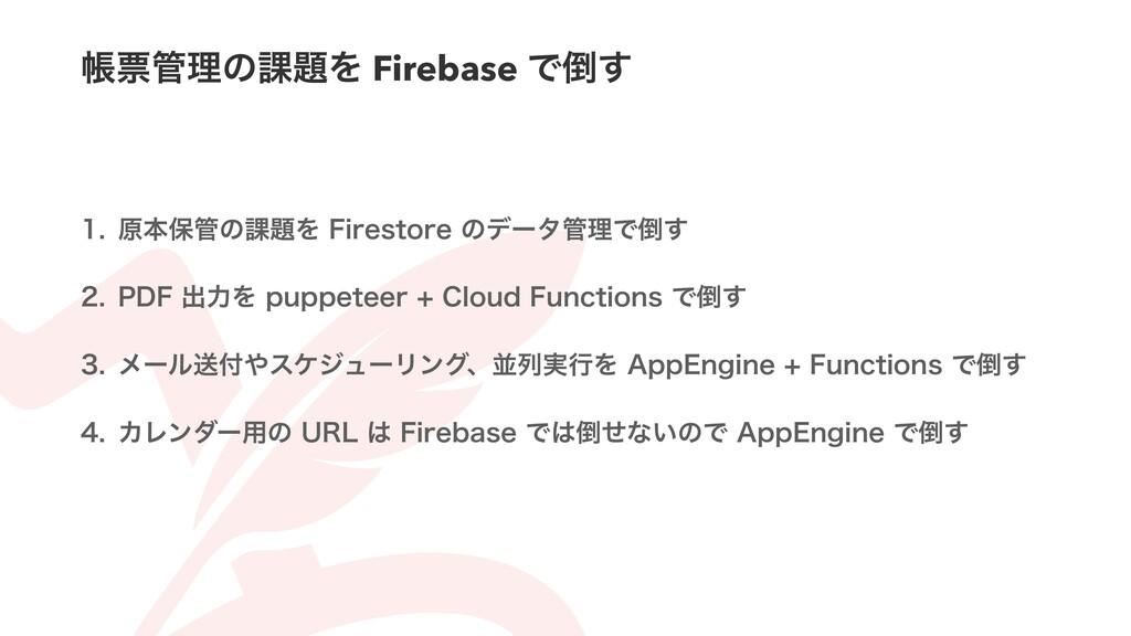 ாථཧͷ՝Λ Firebase Ͱ͢  ݪຊอͷ՝Λ'JSFTUPSFͷσʔ...