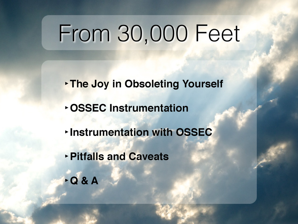 From 30,000 Feet ‣The Joy in Obsoleting Yoursel...