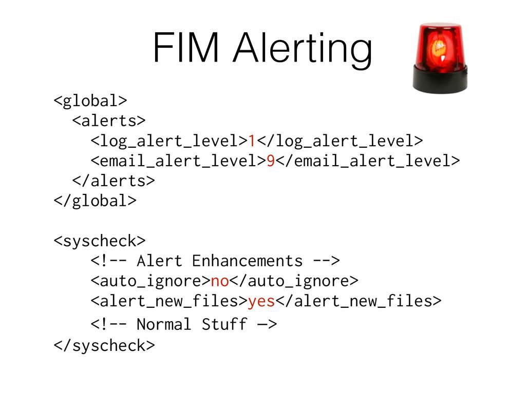 FIM Alerting <global> <alerts> <log_alert_level...