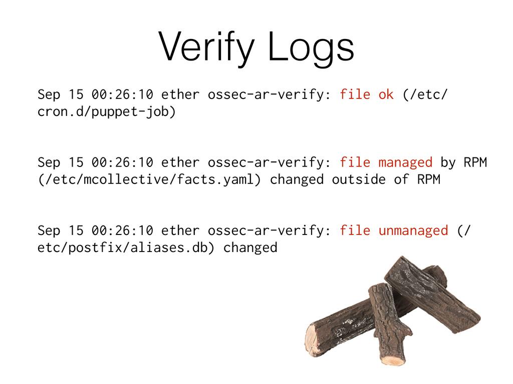 Verify Logs Sep 15 00:26:10 ether ossec-ar-veri...