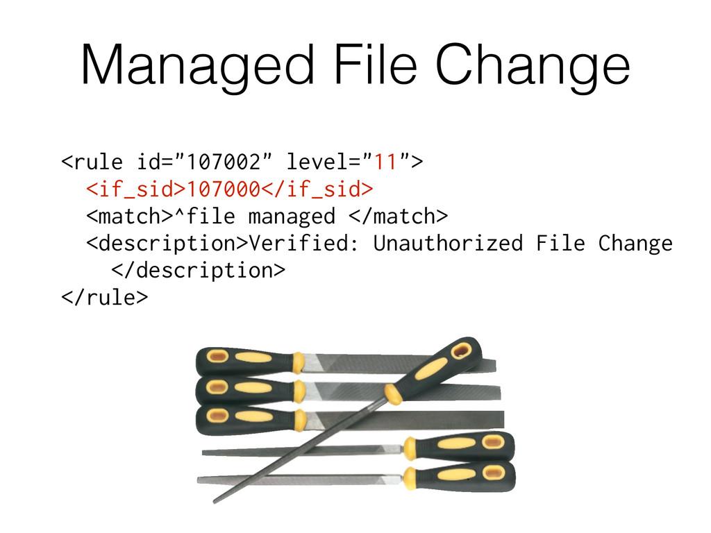 "Managed File Change <rule id=""107002"" level=""11..."