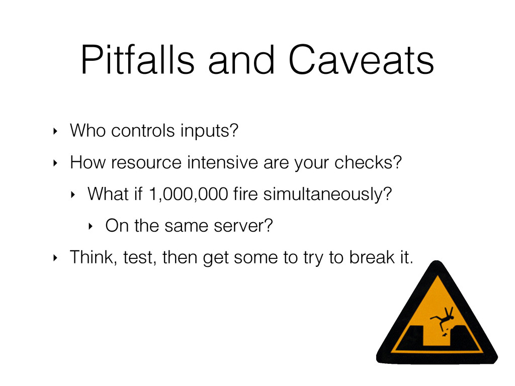 Pitfalls and Caveats ‣ Who controls inputs? ‣ H...