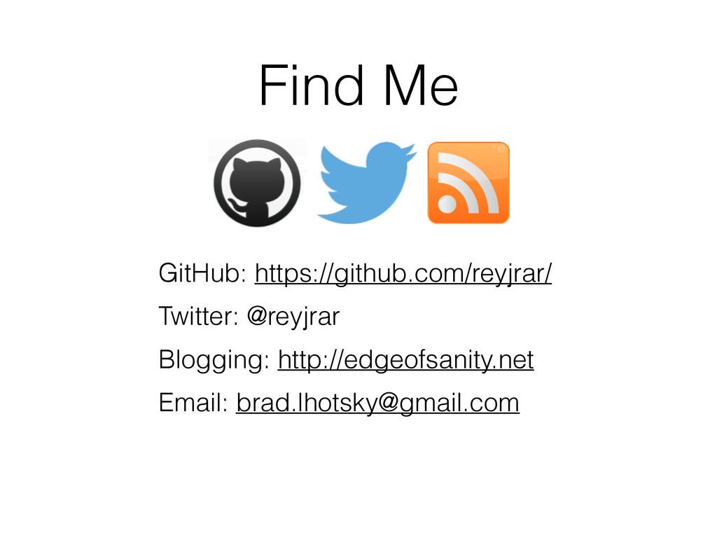 Find Me GitHub: https://github.com/reyjrar/ Twi...
