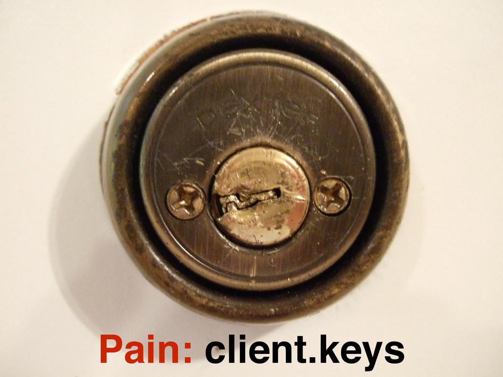 Pain: client.keys