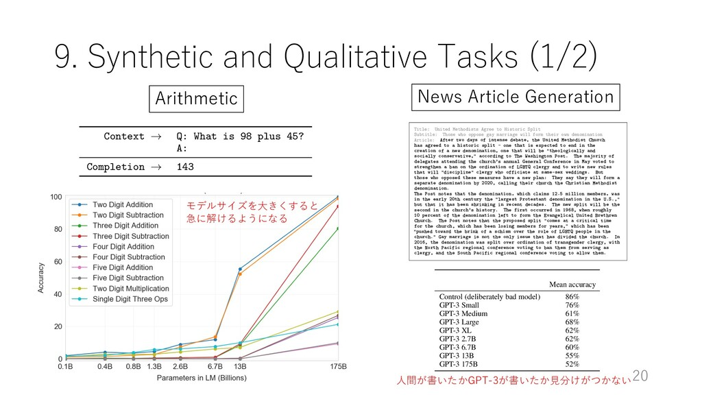 9. Synthetic and Qualitative Tasks (1/2) 20 Con...