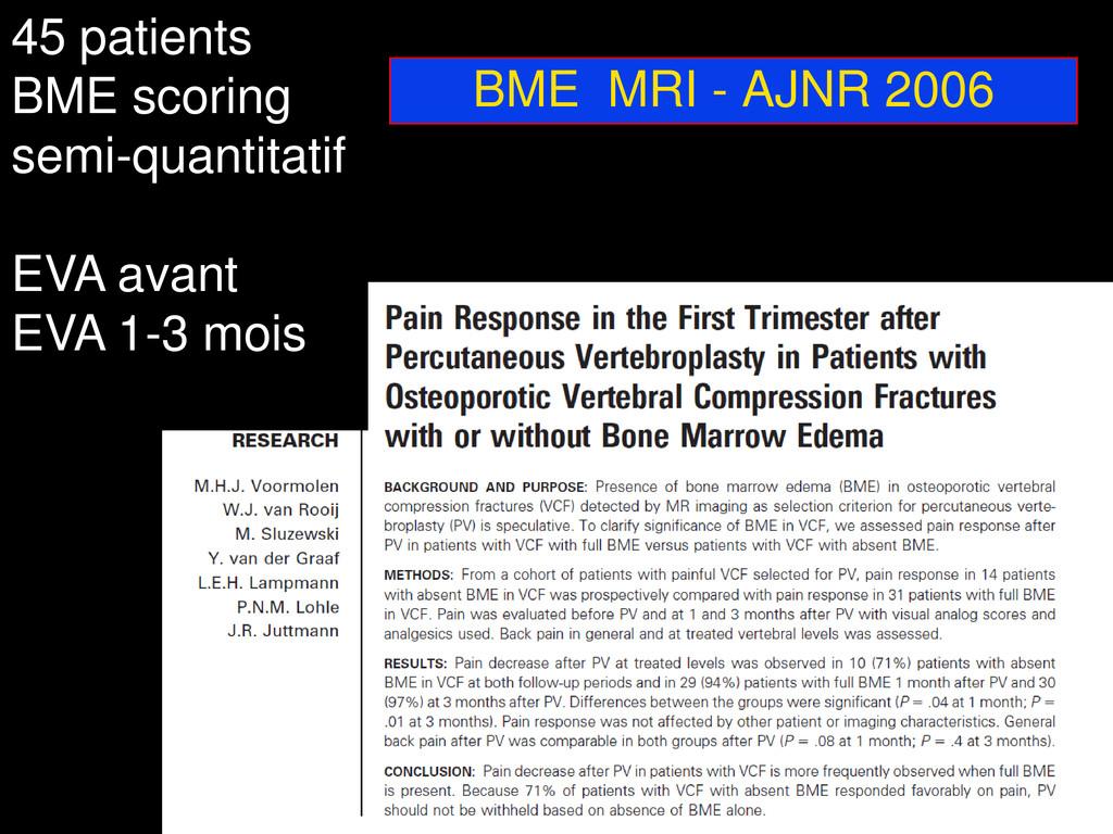 BME MRI - AJNR 2006 45 patients BME scoring sem...