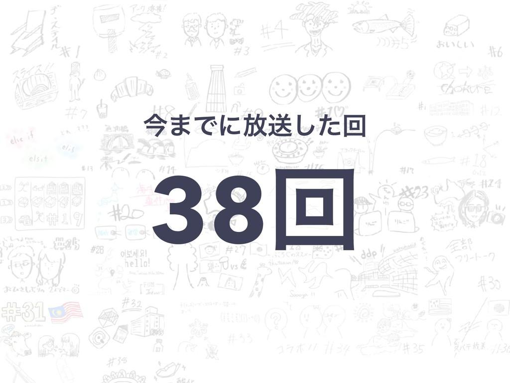 ࠓ·Ͱʹ์ૹͨ͠ճ 38ճ