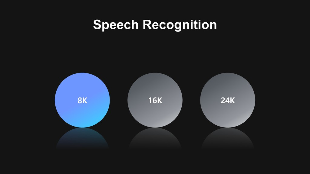 8K 16K 24K Speech Recognition