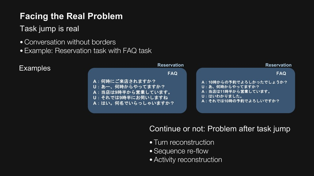 Facing the Real Problem Task jump is real • Con...