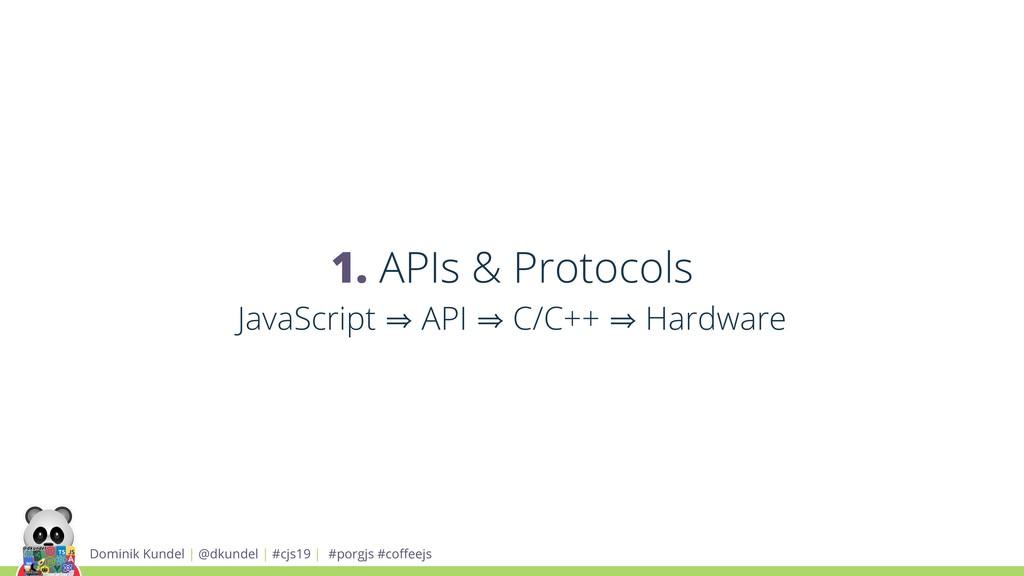 1. APIs & Protocols JavaScript 㱺 API 㱺 C/C++ 㱺 ...