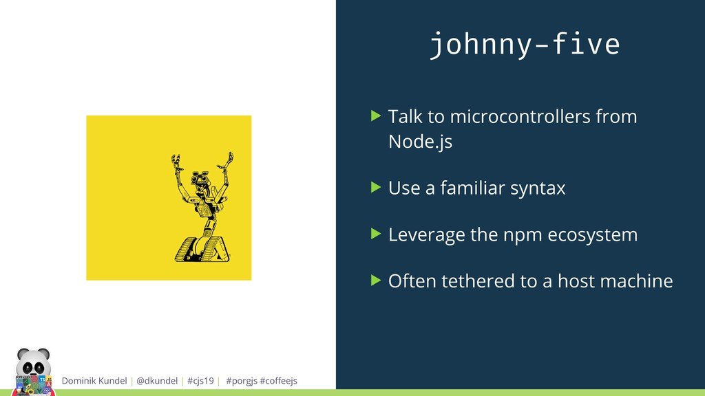 johnny-five ▶ Talk to microcontrollers from Nod...