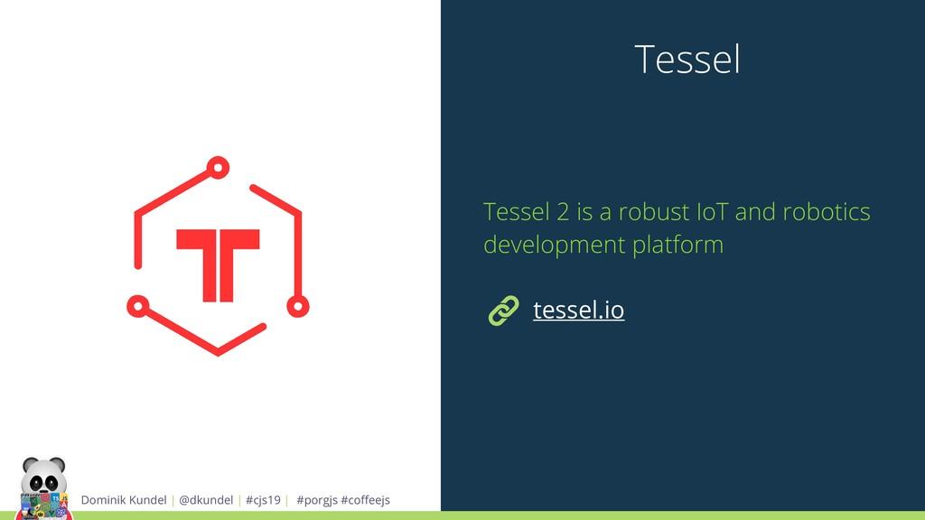 Tessel Dominik Kundel | @dkundel | #cjs19 | #po...