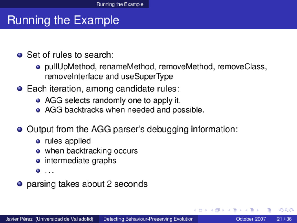 Running the Example Running the Example Set of ...