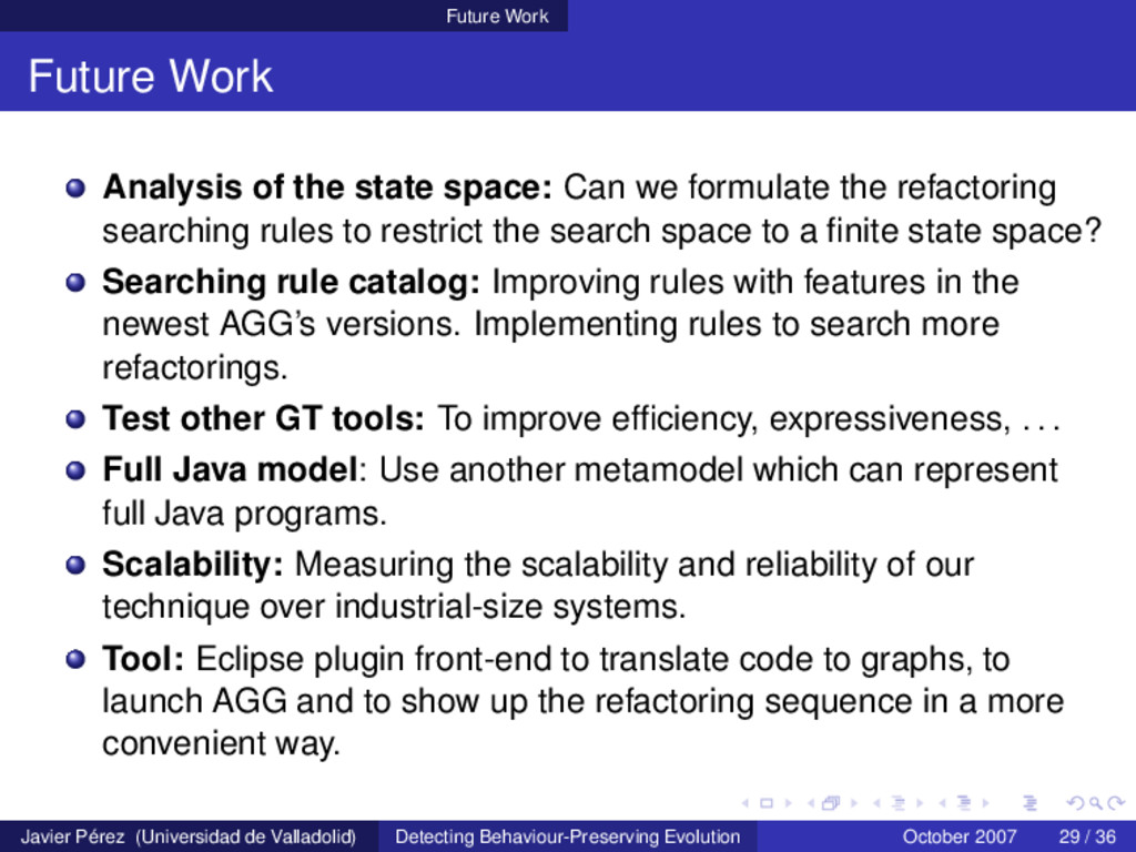Future Work Future Work Analysis of the state s...