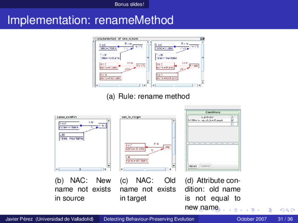 Bonus slides! Implementation: renameMethod (a) ...