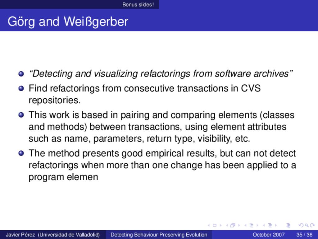 "Bonus slides! Görg and Weißgerber ""Detecting an..."