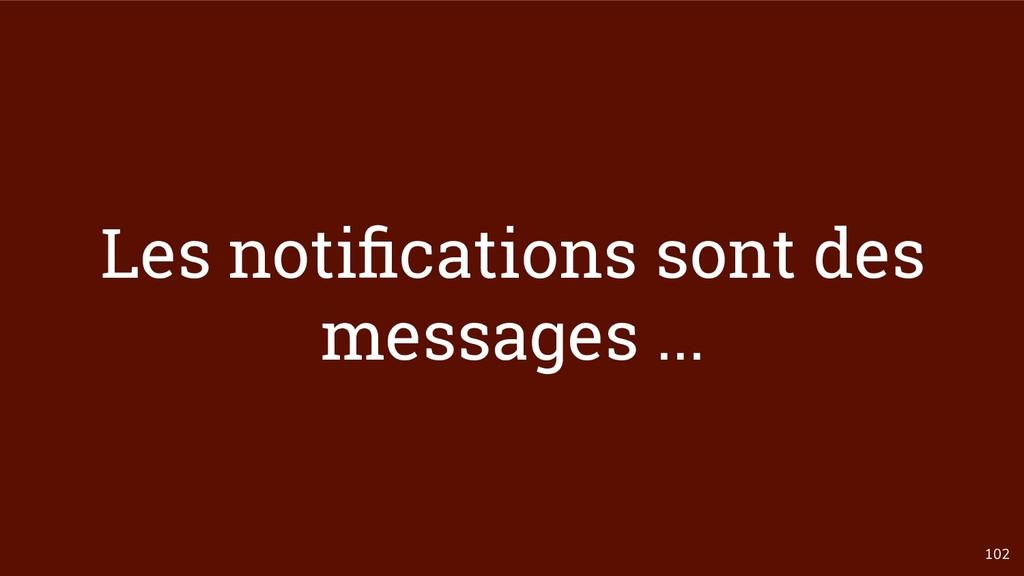 102 Les notifications sont des messages ...