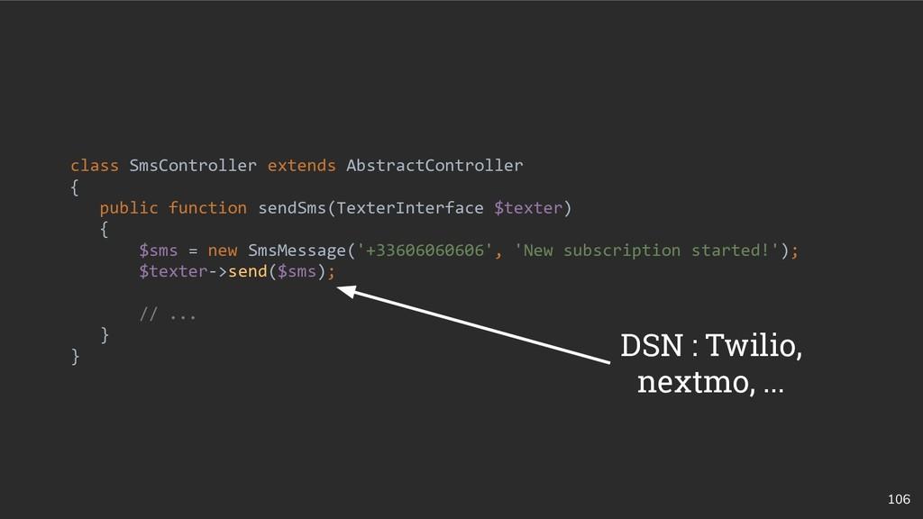 106 class SmsController extends AbstractControl...