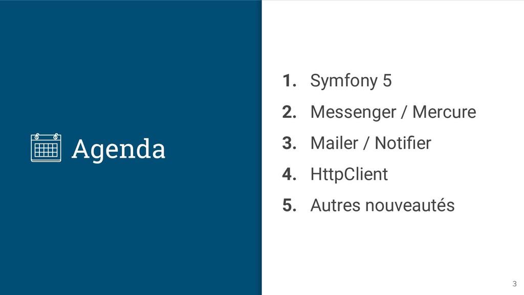 Agenda 1. Symfony 5 2. Messenger / Mercure 3. M...