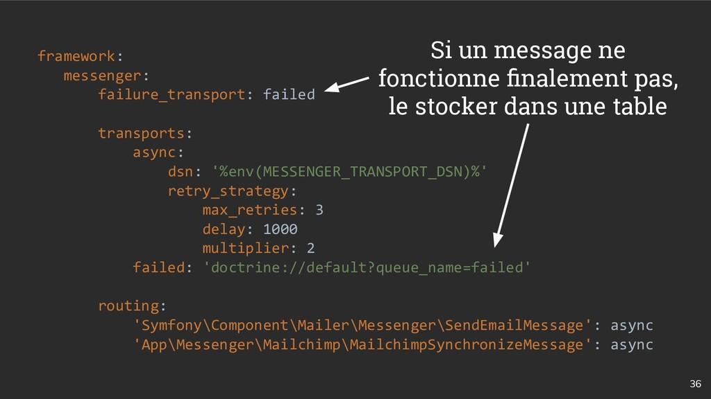 36 framework: messenger: failure_transport: fai...