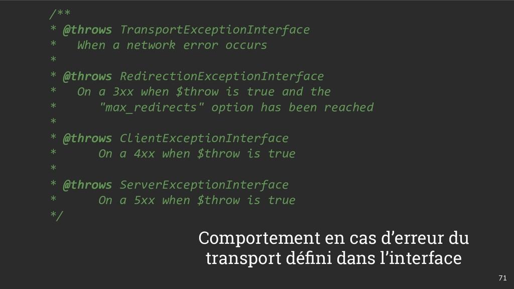 71 /** * @throws TransportExceptionInterface * ...