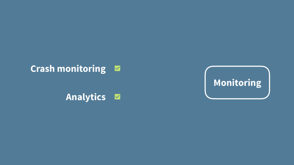 Monitoring Crash monitoring Analytics