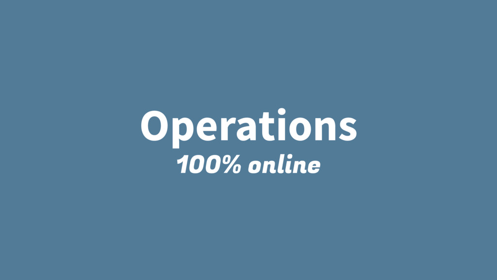 Operations 100% online