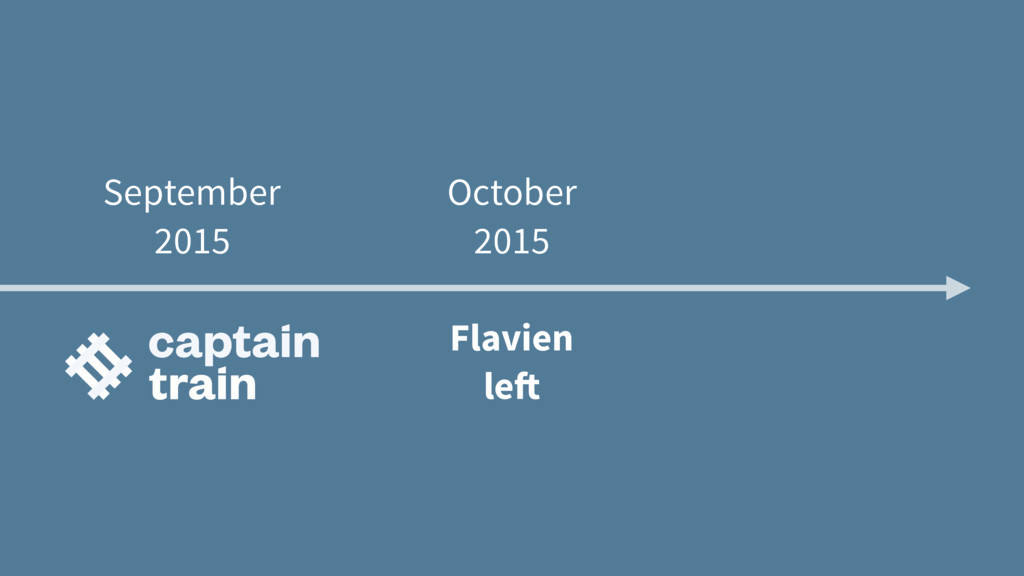 September 2015 October 2015 Flavien left