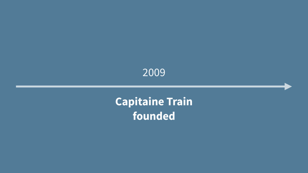 2009 Capitaine Train founded