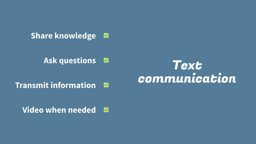 Text communication Share knowledge Ask question...