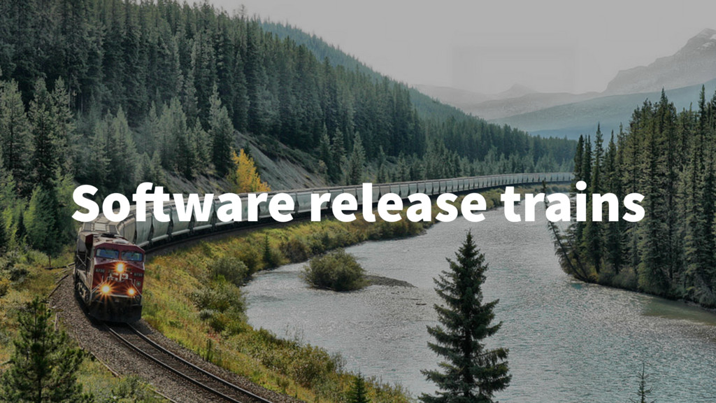 Software release trains