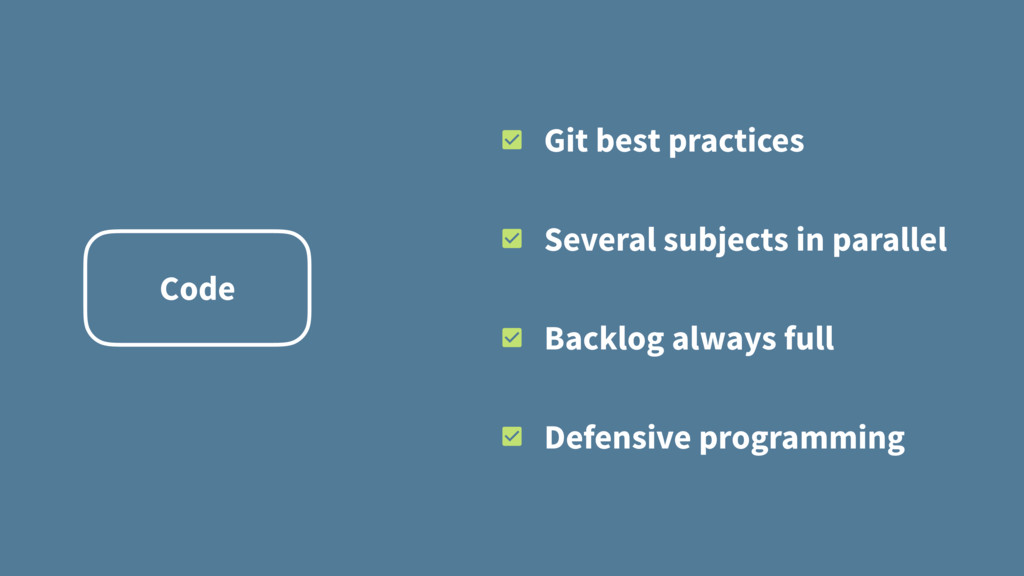 Code Git best practices Several subjects in par...