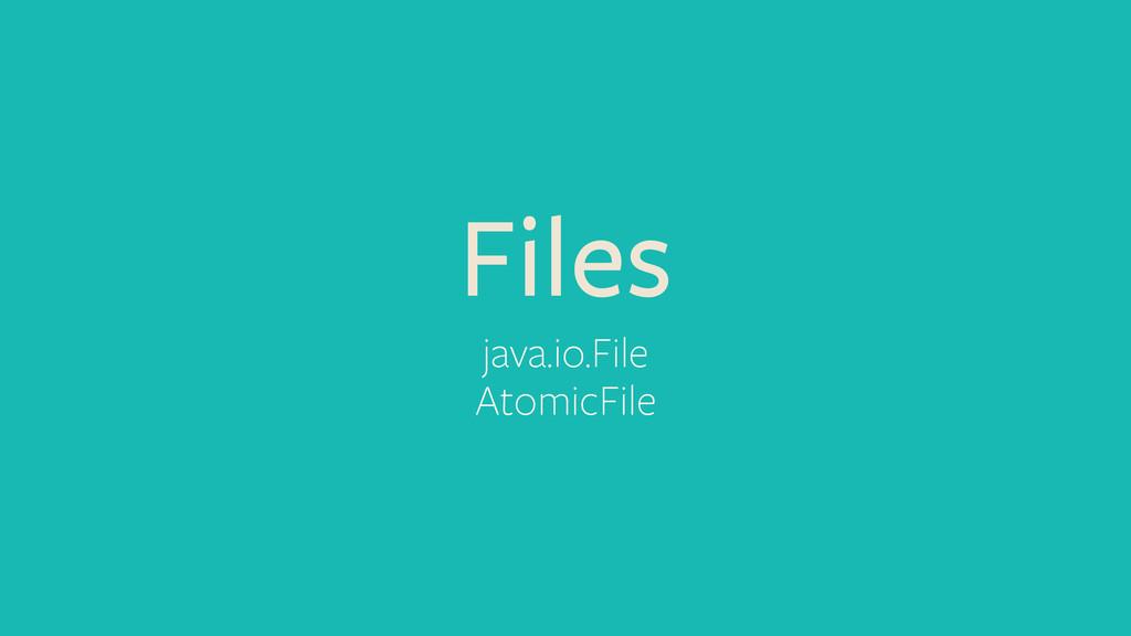 Files java.io.File AtomicFile